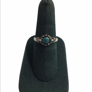 Vintage Sterling Silver Turquoise & Bead R…